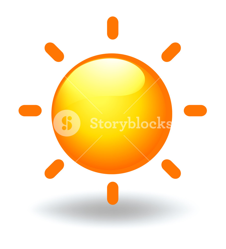 908x1000 Illustration Of A Sun On A White Background Royalty Free Stock