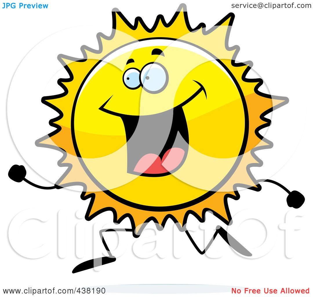 1080x1024 Royalty Free (Rf) Clipart Illustration Of A Sun Character Running