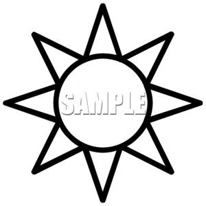 300x300 Sun Clipart Black And White Clipart Panda
