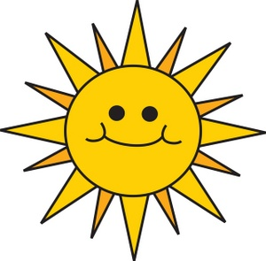 300x295 Sun Clipart Image