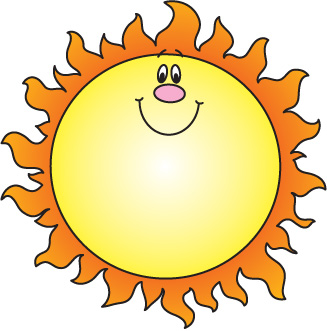 327x331 Sun Clipart Image Clip Art Illustration Of A Bright Yellow Sun