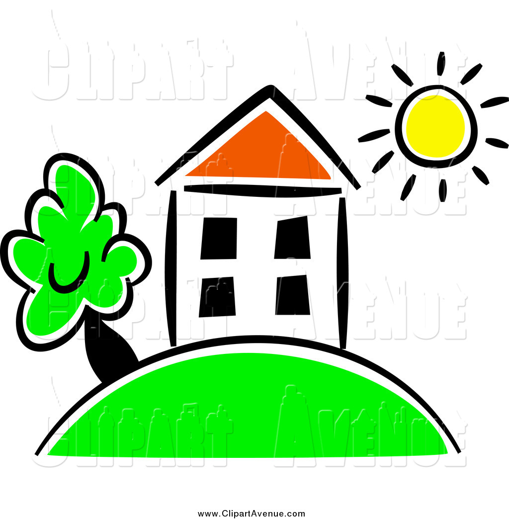 1024x1044 Avenue Clipart Of A Sun Over A House On A Hill By Prawny