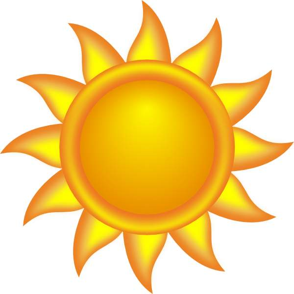 600x600 Clip Art Sun Clipart Clipartcow