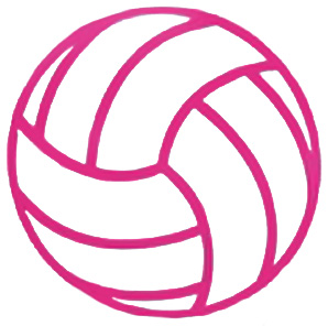 298x296 Pink Volleyball Clipart