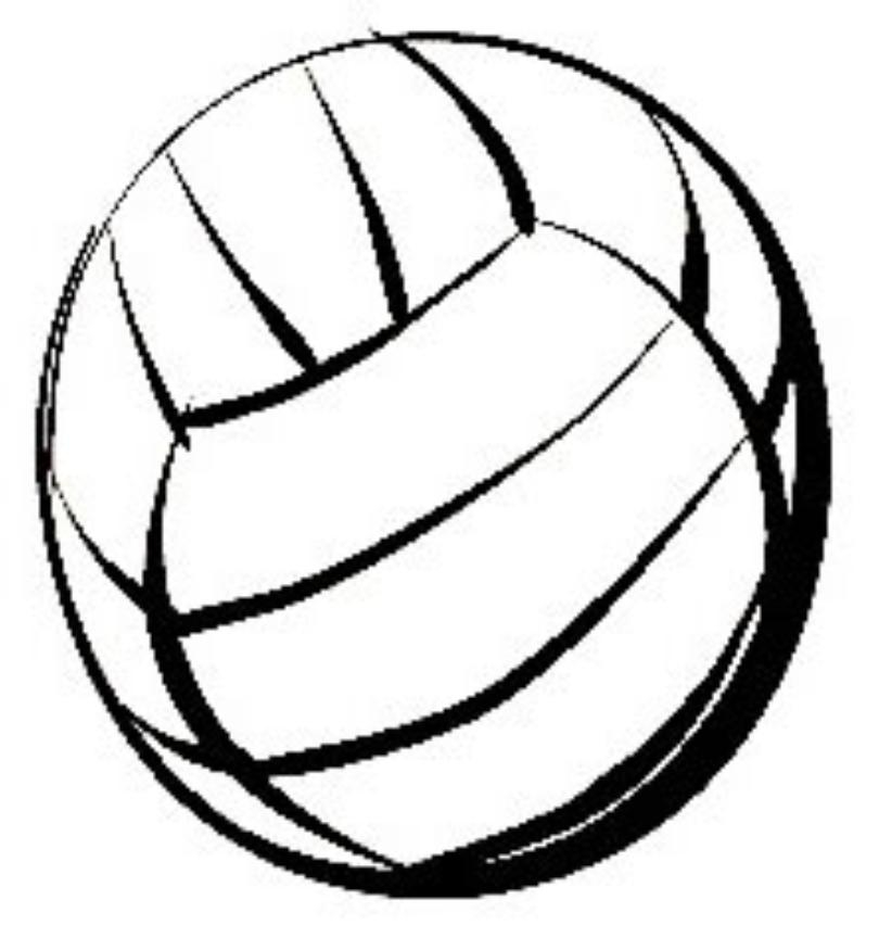 810x864 Softball And Volleyball Clipart