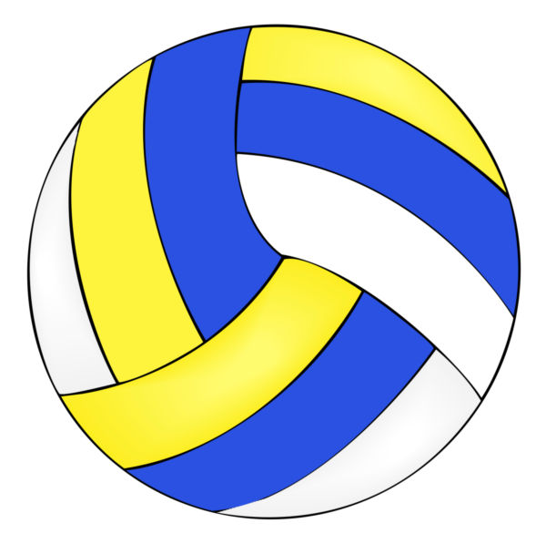 600x597 Vector Image Of A Volleyball.