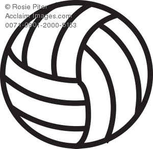 300x293 Art Illustration Of A Volleyball Black And White