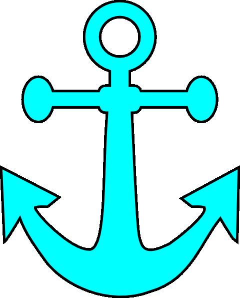 480x595 Anchor Clipart Aqua