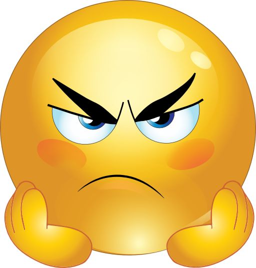 512x536 Angry Face Clipart