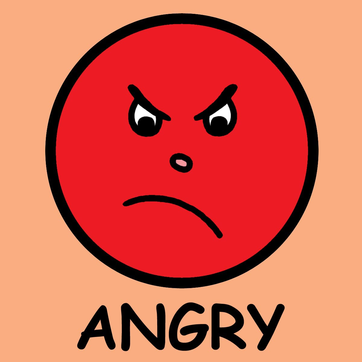 1200x1200 Angry Face Clipart