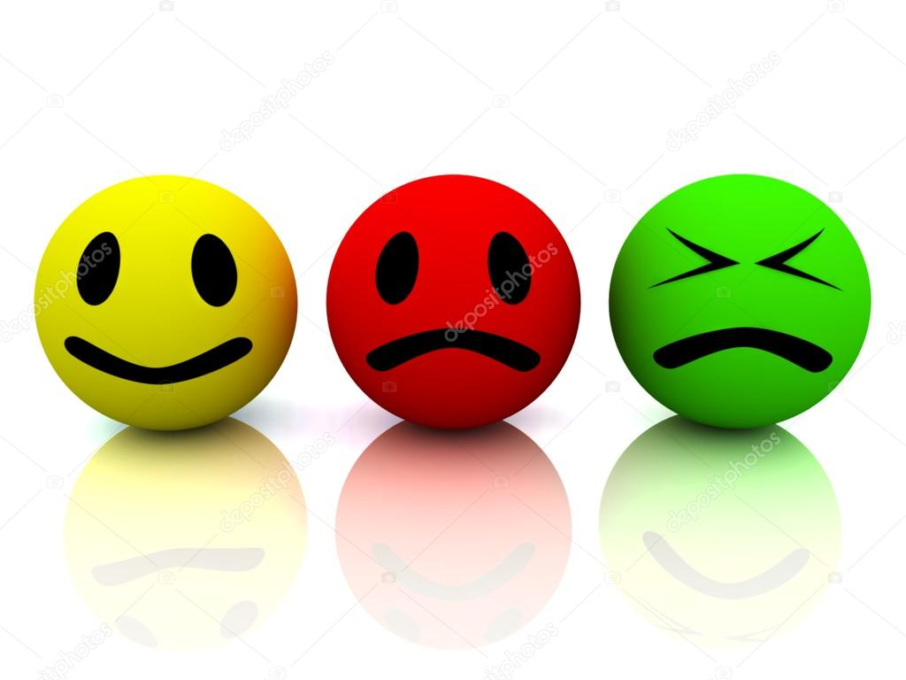 1024x768 Happy, Sad And Angry Face. Stock Photo Moneymaker11