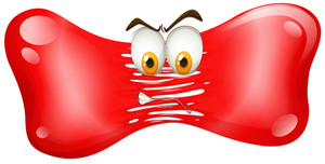 300x152 Red Splash With Angry Faces Illustration Royalty Free Stock Image