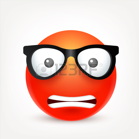 450x450 Smiley,emoticon. Red Face With Emotions. Facial Expression. 3d