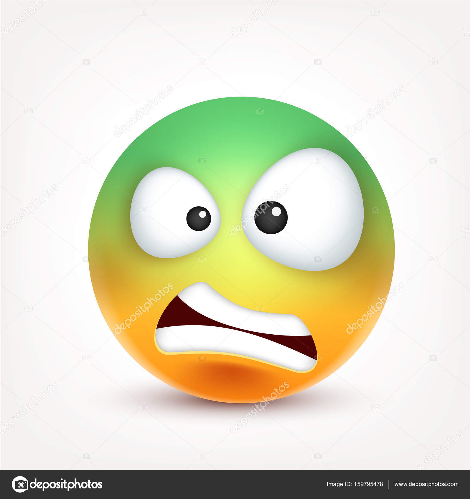 1600x1700 Smiley,emoticon. Yellow Face With Emotions. Facial Expression. 3d