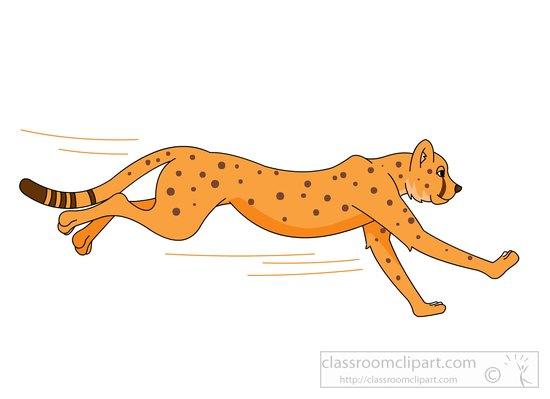 550x399 Free Cheetah Clipart