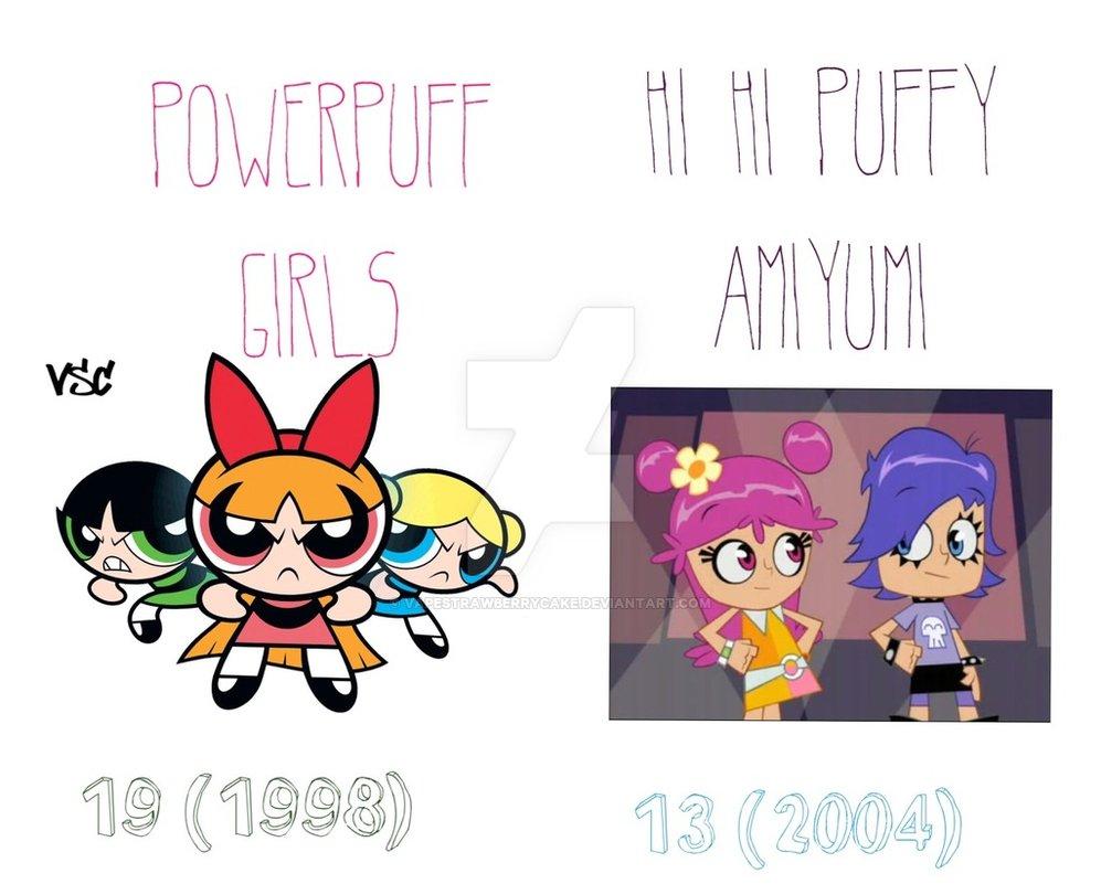 997x801 Powerpuff Girls And Puffy Amiyumi Anniversaries By