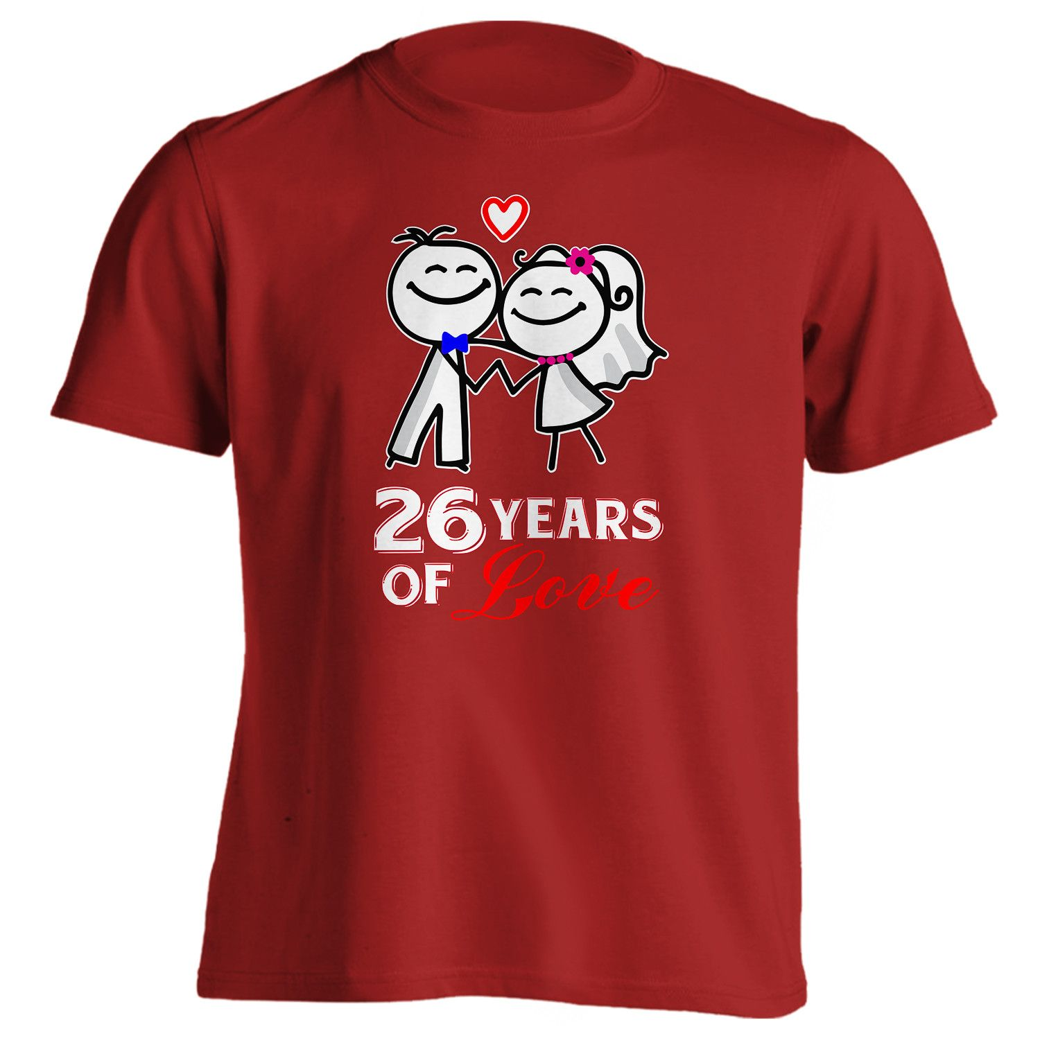 1500x1498 26th Anniversary Gift 26 Years Of Love Shirt Anniversary Gifts