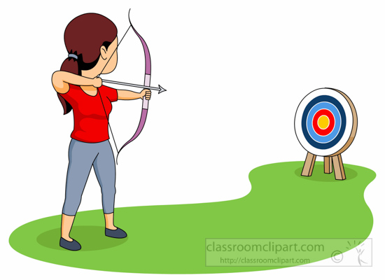 550x400 Archery Clipart Clipart Aiming Target With Bow And Arrow Archery