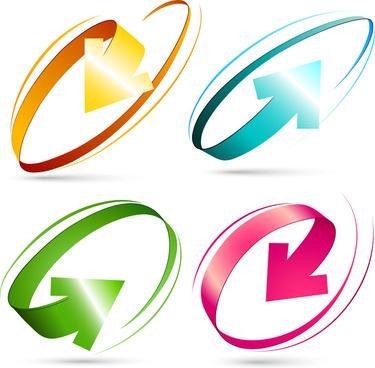 375x368 3d Circle Arrows Clipart Free Vector Download (11,704 Free Vector