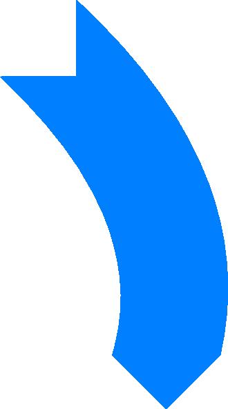 330x592 Blue Curved Arrow Clip Art