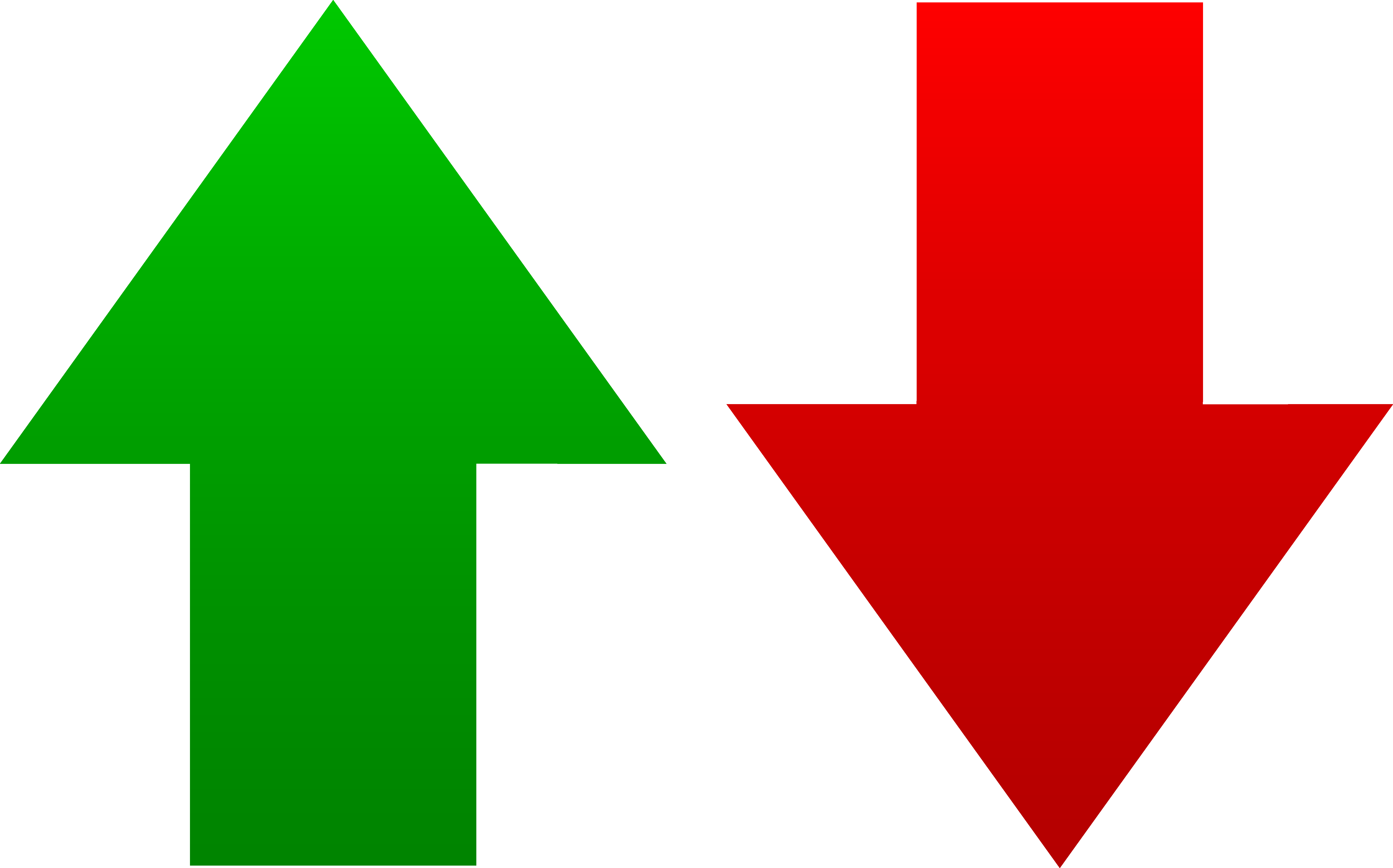 6966x4343 Green And Red Arrow Symbols