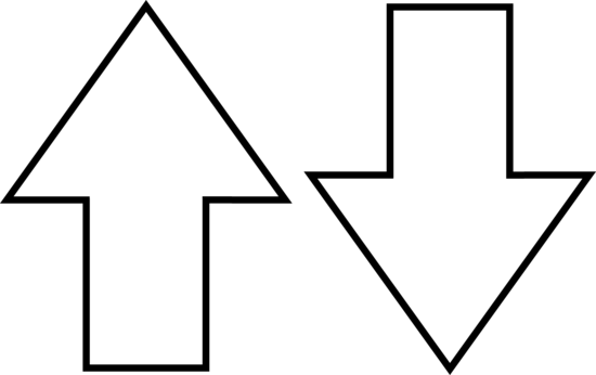 550x346 Arrow Symbols Line Art