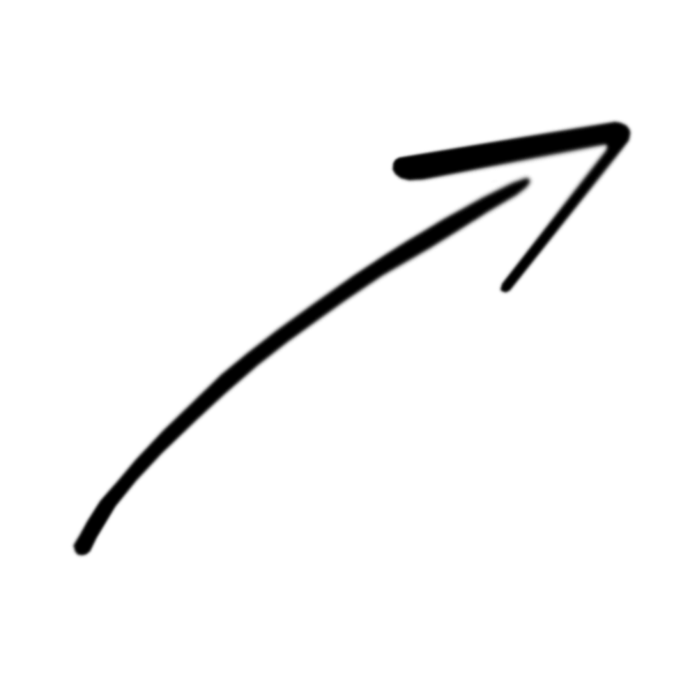 1000x1000 Simple Black Curved Arrows Clipart