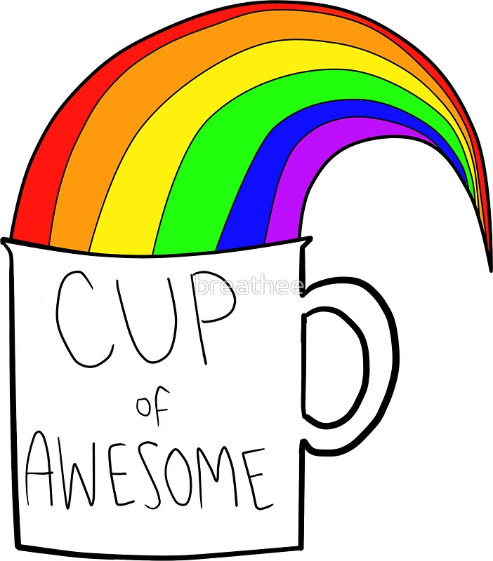 702x800 New Cup Of Awesome Stickers By Breathee Redbubble