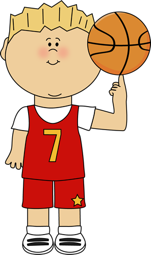 296x500 Basketball Player Balancing Ball On Finger Clip Art
