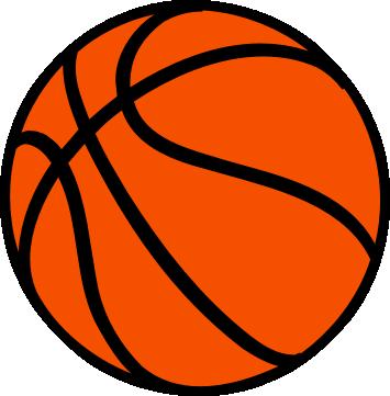 355x361 Basketball Basket Ball Clipart