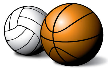 360x229 Basketball And Volleyball Clipart
