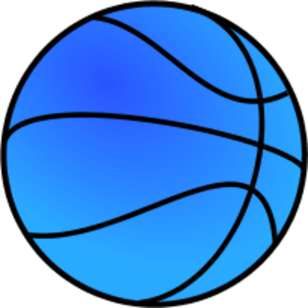 600x600 Blue Basketball Clipart Free Images