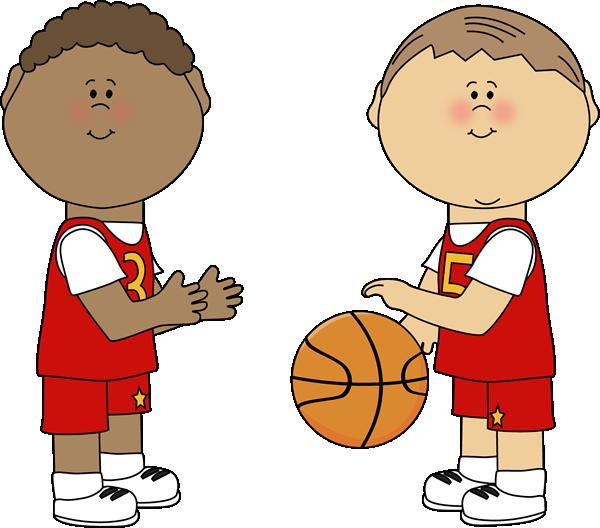 600x528 Boys Playing Basketball Clip Art