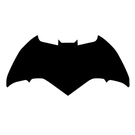 270x270 Batman Symbol Stencil 03 Free Stencil Gallery