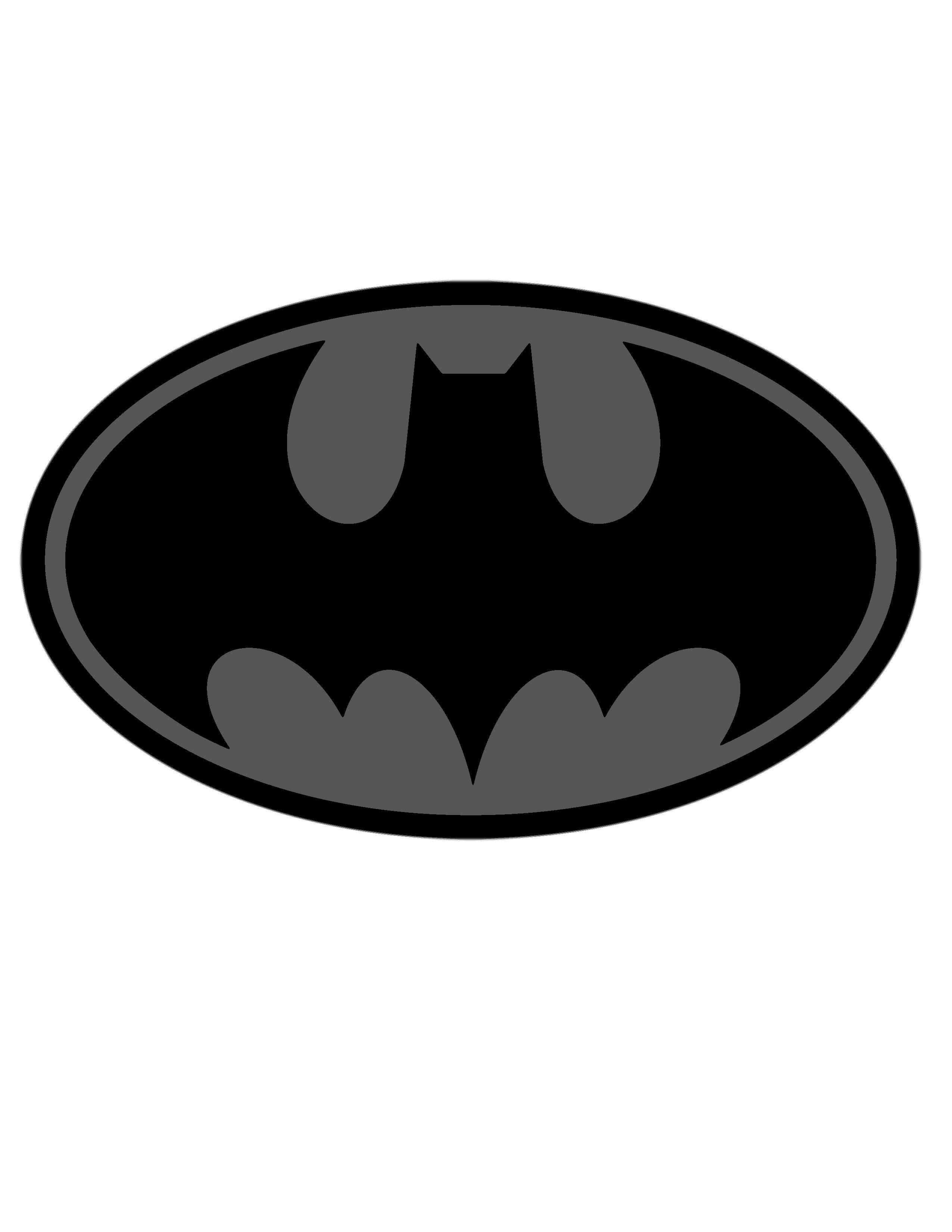2550x3300 Batman Symbol Stencil Template For Free Download Stencil