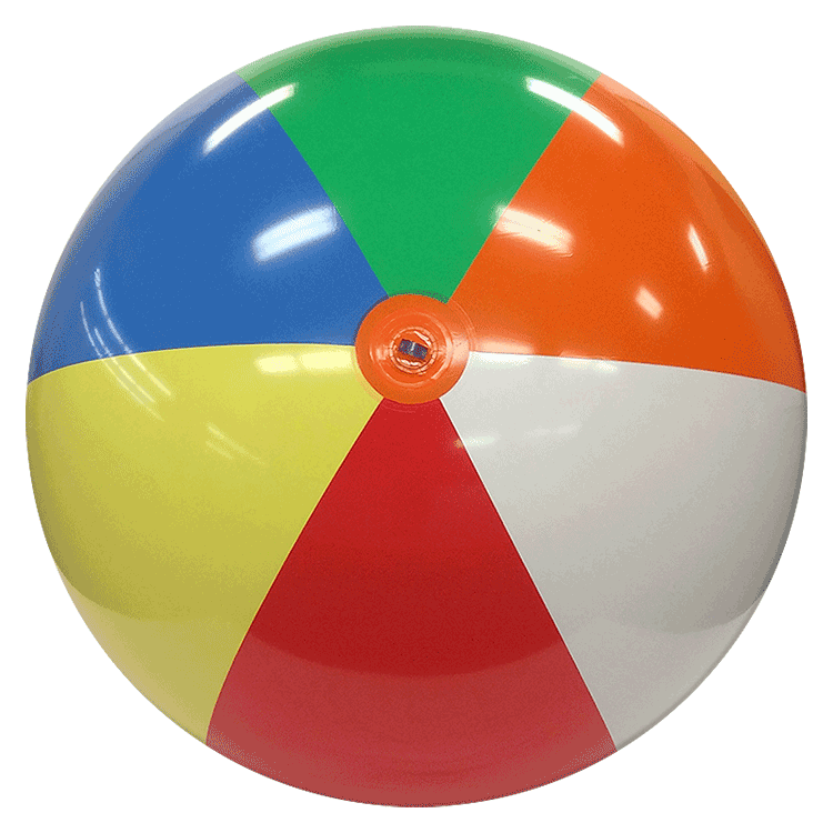 750x750 8 Ft Deflated Size Multicolor Beach Ball