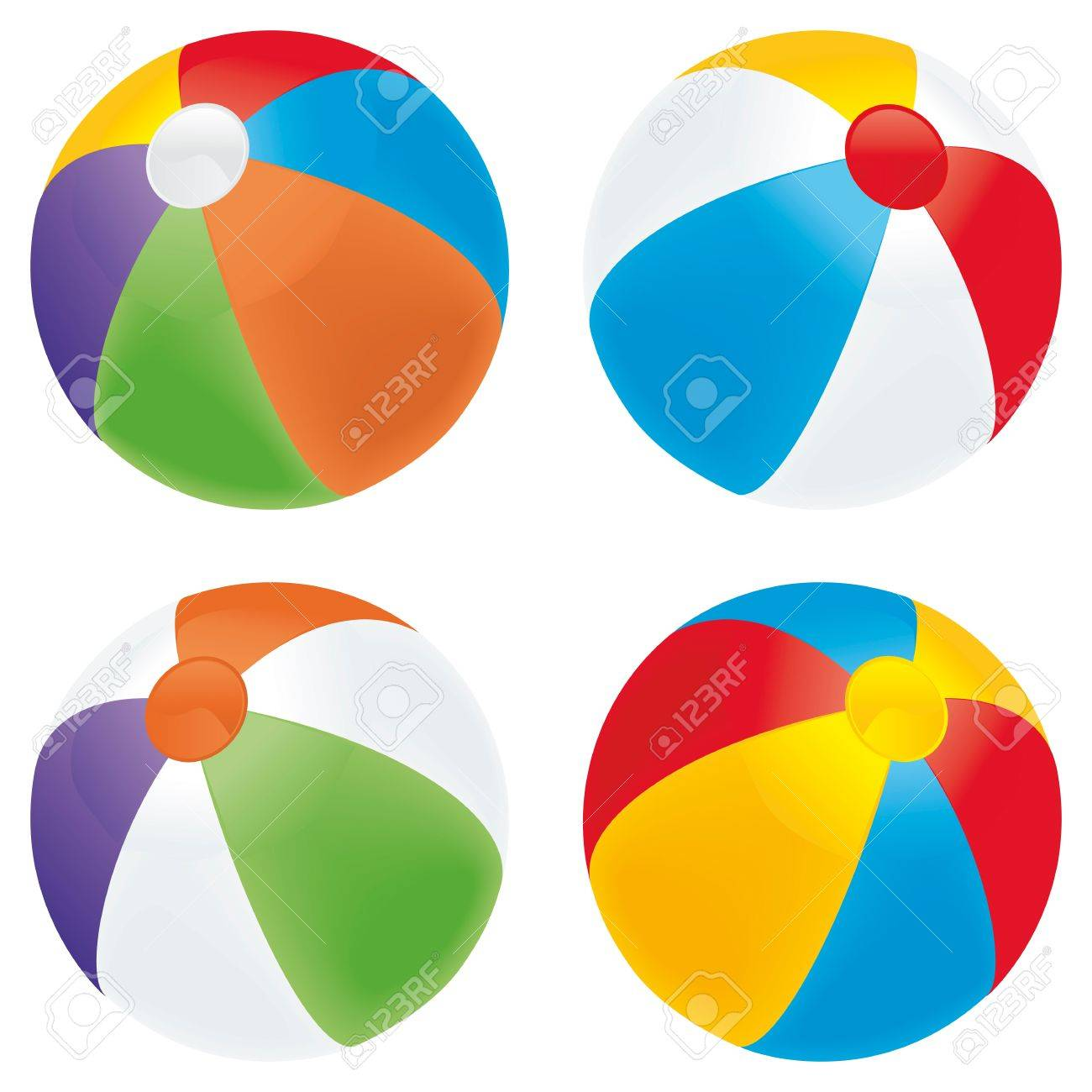1300x1300 A Selection Of Beach Balls In Multiple Colors Isolated On White