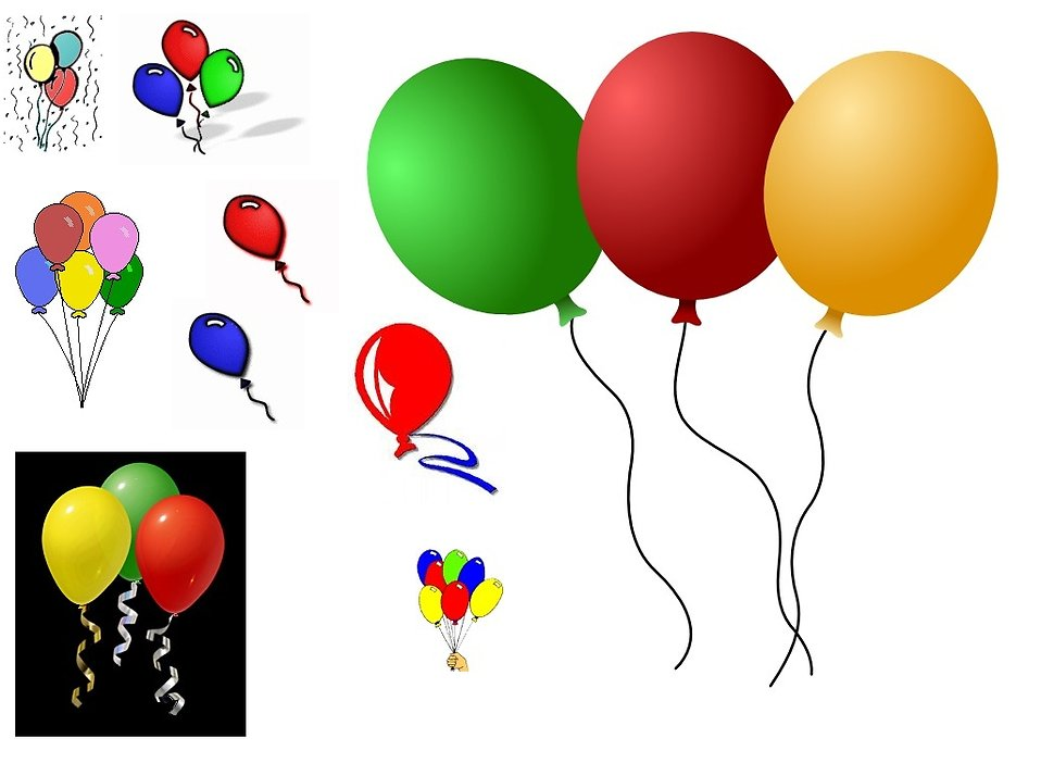 958x702 Birthday Balloons Clipart