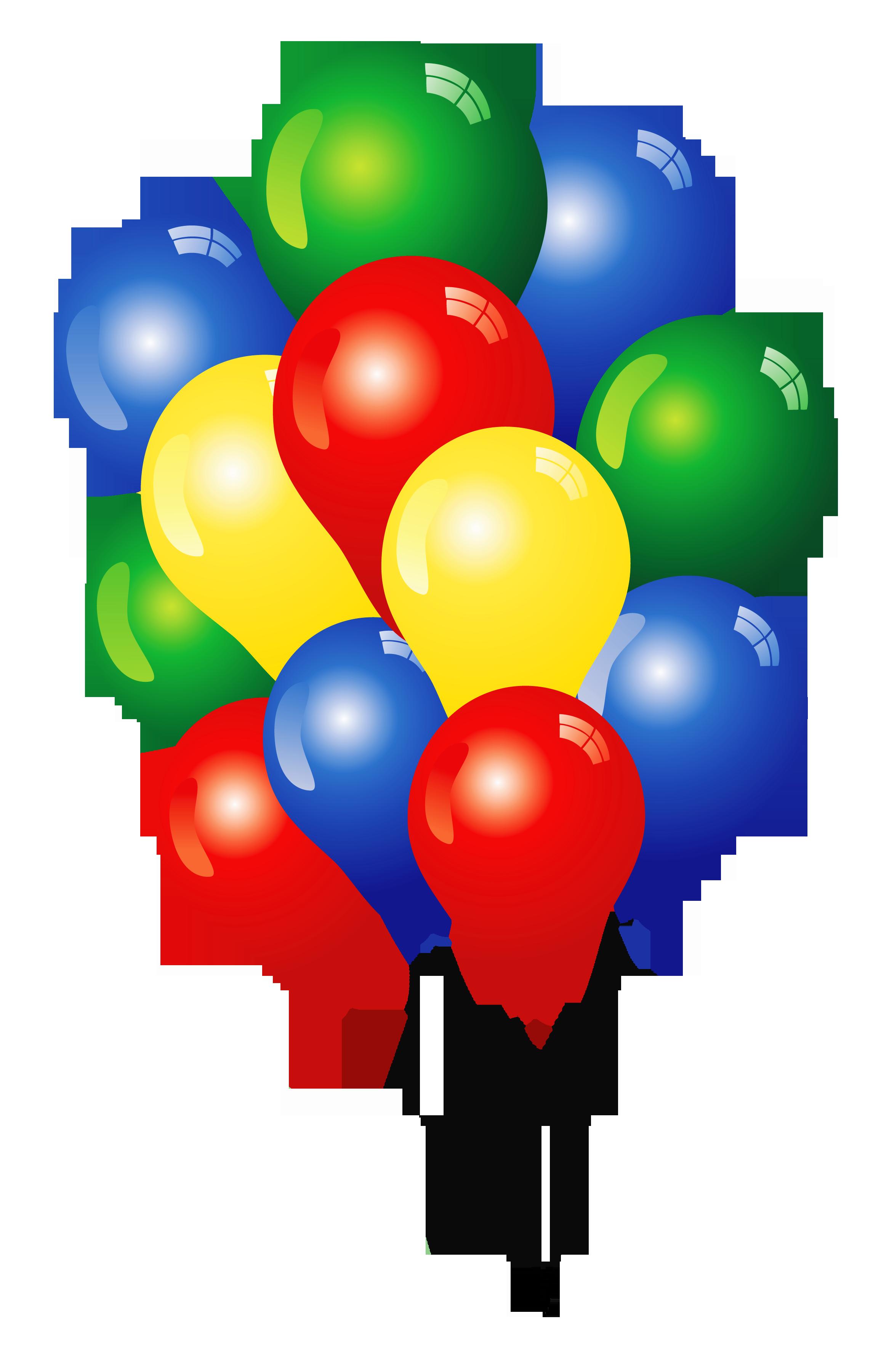 2312x3602 Happy Birthday Balloons Clip Art