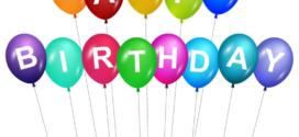 272x125 Birthday Balloons Clipart