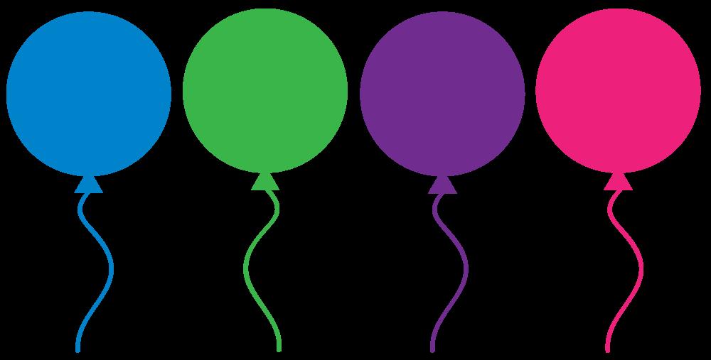 1000x507 Single Birthday Balloons Clipart