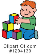 130x175 Clipart Boy Building Blocks