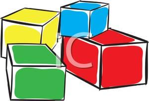 300x203 Colorful Building Blocks Clipart Image