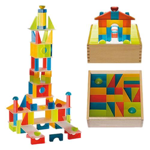 500x500 Lumi Translucent Building Blocks Box 1
