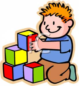 275x300 Young Boy Playing With Colored Building Blocks