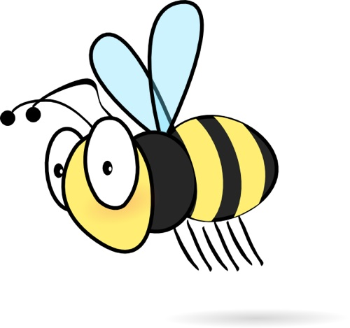 500x469 Bumble Bee Honey Clipart Image Cartoon Flying Around 2