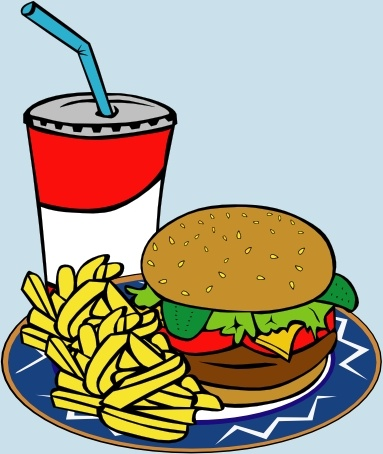 383x454 Fries Burger Soda Fast Food Clip Art Free Vector In Open Office