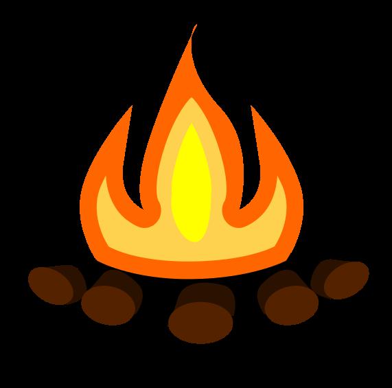 571x565 Camping Clipart Bonfire