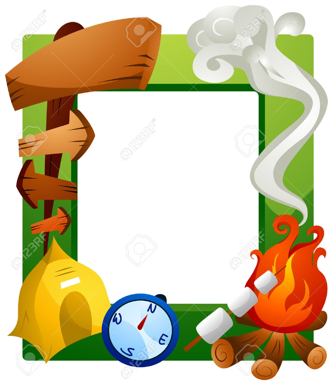 1119x1300 Camping Clipart Frame