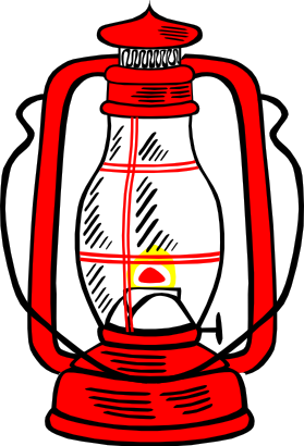 279x410 Camping Clipart Lamp